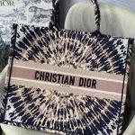 Dior Book Tote M1286 Black Multicolor Tie Dior Embroidery - luxibagsmall