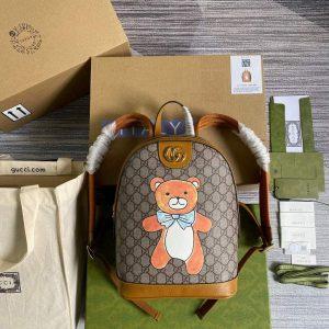 GUCCI 647816 kai x gucci teddy bear print backpack 647816 1