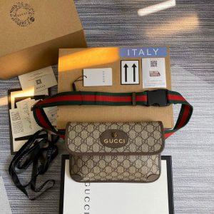 Gucci 493930 Neo Vintage GG Supreme belt bag Brown 0