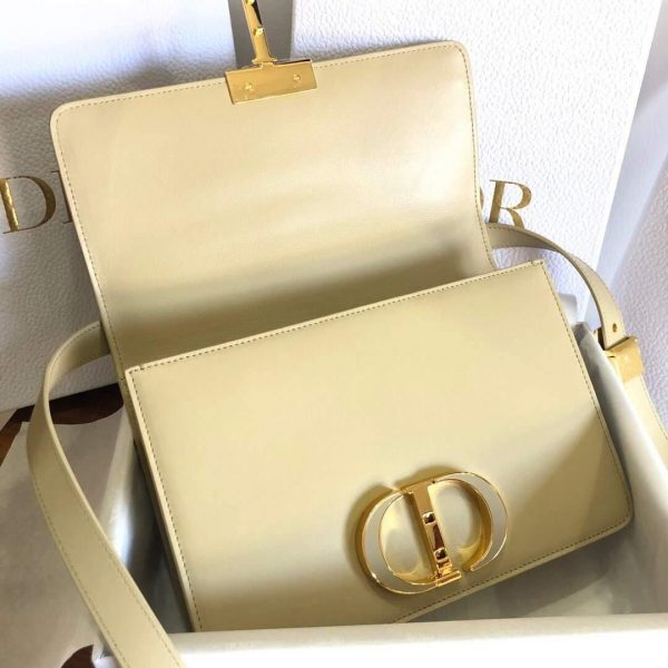 Dior M9204 Dior 30 Montaigne Box Bag Calfskin Apricot - Voguebags