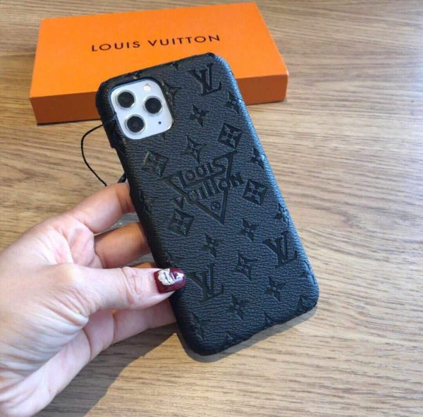 Louis Vuitton Apple Iphone Leather Premium Deluxe Phone Case Protection 10113 - luxibagsmall
