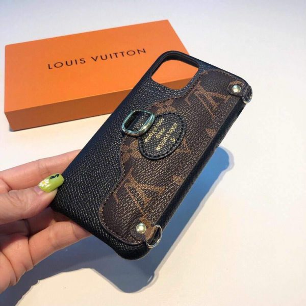 Louis Vuitton Apple Iphone Leather Premium Deluxe Phone Case Protection 10114 - luxibagsmall