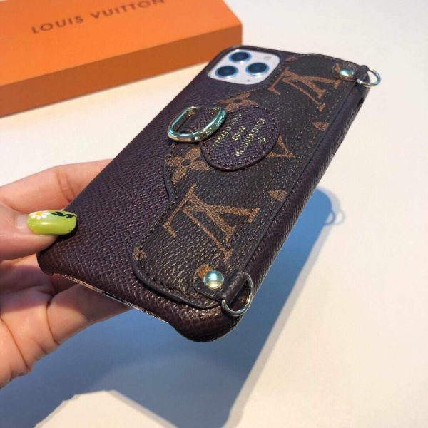 Louis Vuitton Apple Iphone Leather Premium Deluxe Phone Case Protection 10115 - luxibagsmall