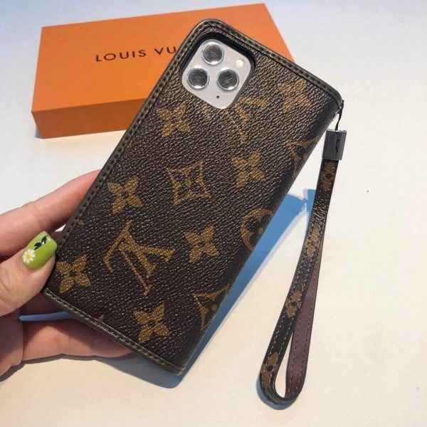 Louis Vuitton Apple Iphone Leather Premium Deluxe Phone Case Protection 10107 - luxibagsmall