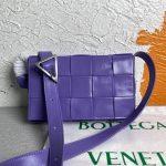 bottega veneta bv 667298 cassette cross body bag purple 0