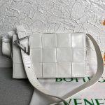 bottega veneta bv 667298 cassette cross body bag white 0
