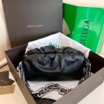 bv 620230 bottega veneta chain pouch raintree bag 92020 strap 25cm black silver 0