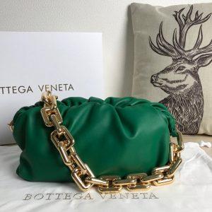 bv 620230 bottega veneta chain pouch raintree bag 92020 strap 25cm green gold 0