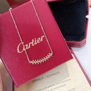 Cartier Clash De Cartier Necklace Rose Gold Diamonds 20209 - luxibagsmall