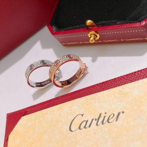 Cartier Ring Love Solitaire White Gold Diamond 20207 - luxibagsmall