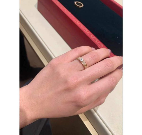 Cartier Ring Love Solitaire Rose Gold Diamond 20206 - luxibagsmall