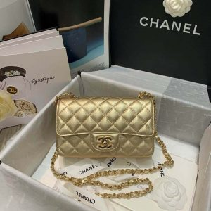chanel a69900 chanel 1116 mini flap lambskin b05133 bag gold 9