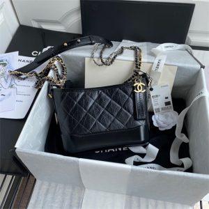 chanel a91810 gabrielle small hobo bag black 1