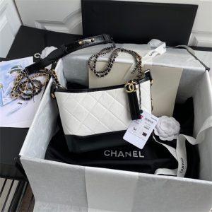 chanel a91810 gabrielle small hobo bag white 1