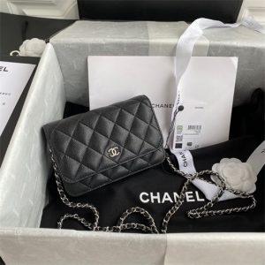 chanel ap1649 mini wallet on chain grained calfskin black 1