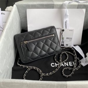 chanel ap1649 mini wallet on chain grained calfskin black 2