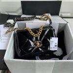 chanel as1160 chanel 19 flap b02511 n6512 lambskin bag black 1