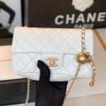 chanel as1787 chanel mini flap bag lambskin gold na117 white 8