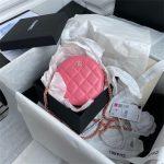 chanel as1898 small round bag n7373 b03446 shiny lambskin plum 1