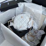 chanel as1898 small round bag n7373 b03446 shiny lambskin white 1