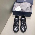 Dior 3SN248 Men's Women's B24 SNEAKER Dior Oblique Canvas Black and white - luxibagsmall