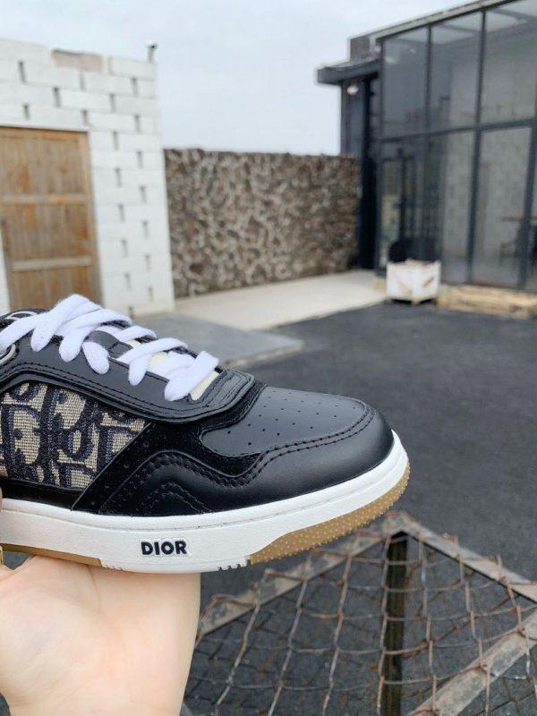 Dior 3SN272 B27 Low Top Sneaker Black Smooth Calfskin - Voguebags
