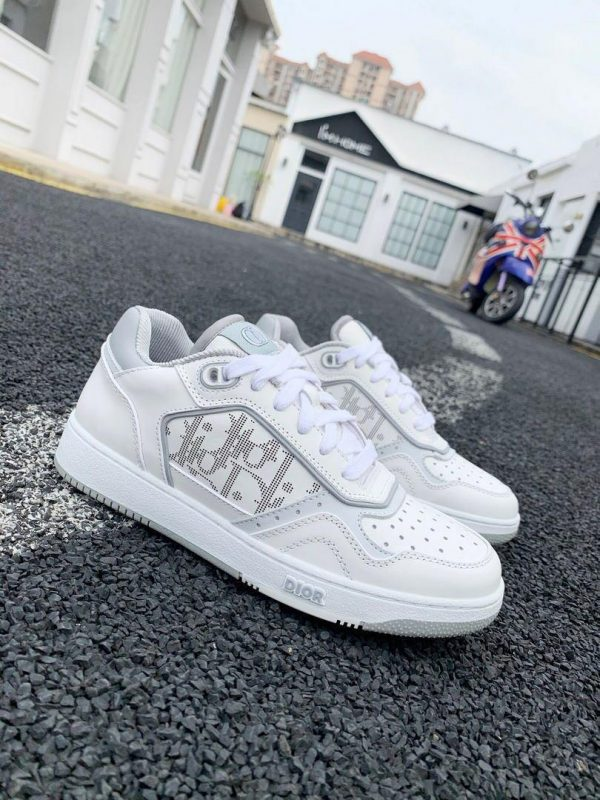 Dior 3SN272 B27 Low Top Sneaker White Smooth Calfskin - Voguebags