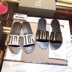 Dior 81178 Diro Letter slippers Sandals White Black logo - luxibagsmall