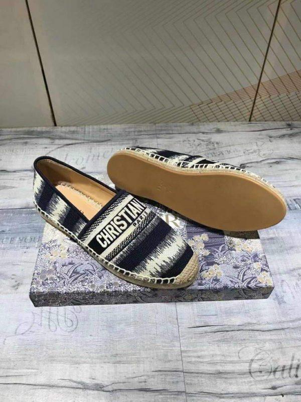Dior KDB585 Dior Granville Espadrille Shoes Black - luxibagsmall