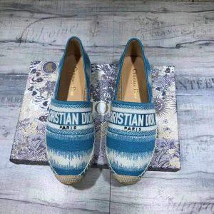 Dior KDB585 Dior Granville Espadrille Shoes Blue - luxibagsmall