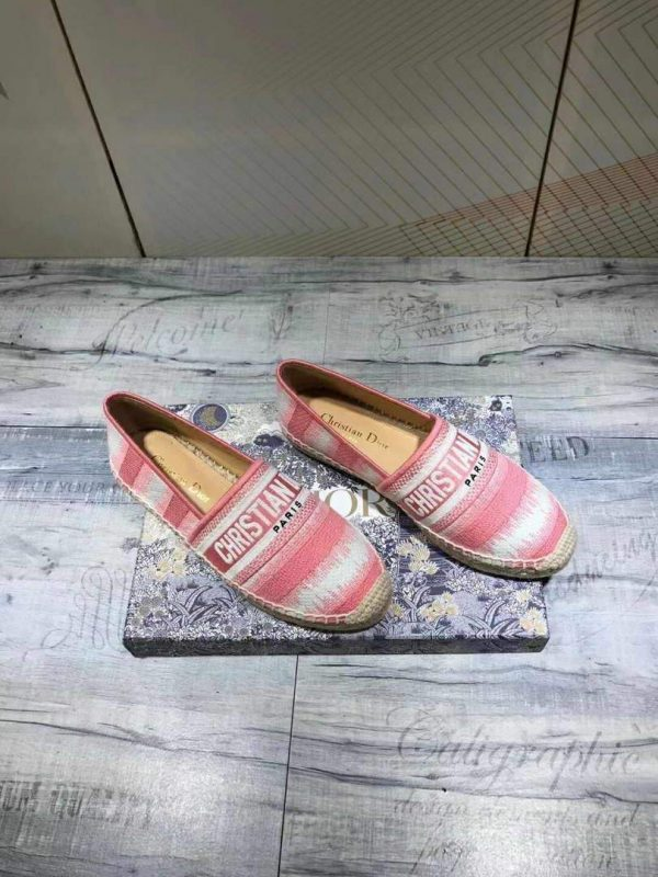 Dior KDB585 Dior Granville Espadrille Shoes Pink - luxibagsmall