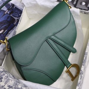 Dior M0446 Dior Saddle Bag M0447 Green Grained Calfskin - luxibagsmall