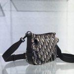 dior-m0446-dior-saddle-bag-oblique-tote-shoulder-bag-grey-blue-2