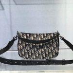 dior-m0446-dior-saddle-bag-oblique-tote-shoulder-bag-grey-blue-6