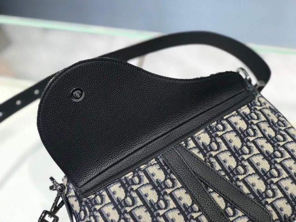 Dior M0446 Dior Saddle Bag Oblique Tote Shoulder Bag Grey Blue - Voguebags