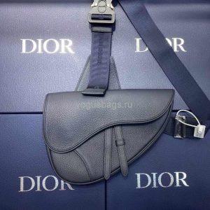 Dior M0446 Saddle Bag Dior Navy blue Calfskin Bag - Voguebags