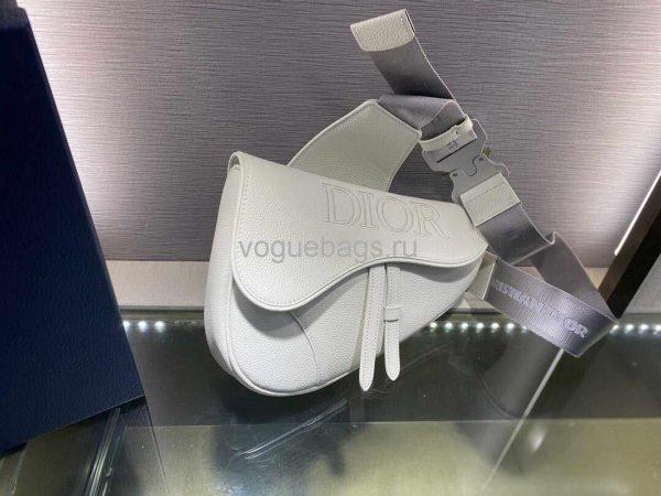Dior M0446 Saddle Bag Dior Calfskin Bag White - Voguebags