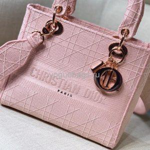 Dior M0565 Medium Lady D-Lite Bag Pink - Voguebags