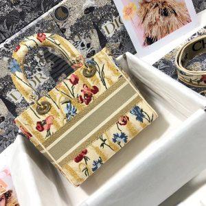 Dior M0565 Medium Lady Dior Bag Yellow - luxibagsmall