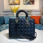 Dior M0566 Large Lady Dior Bag Black Cannage Lambskin - Voguebags