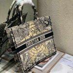 dior-m1286-book-tote-bag-christian-dior-shoulder-shopping-black-3