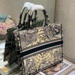 dior-m1286-book-tote-bag-christian-dior-shoulder-shopping-black-6