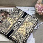 dior-m1286-book-tote-bag-christian-dior-shoulder-shopping-black-7