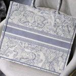 dior-m1286-book-tote-bag-christian-dior-shoulder-shopping-lion-gray-4