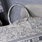 dior-m1286-book-tote-bag-christian-dior-shoulder-shopping-lion-gray-5