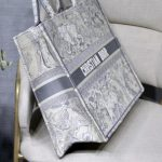 dior-m1286-book-tote-bag-christian-dior-shoulder-shopping-lion-gray-7