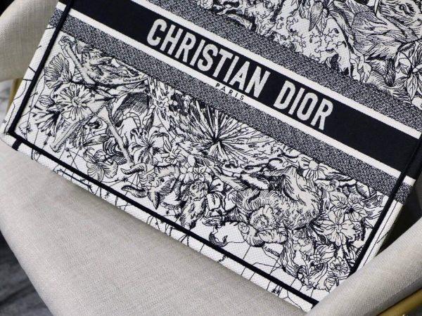 Dior M1286 Book Tote Latte Multicolor Dior Zodiac Embroidery Gray - Voguebags