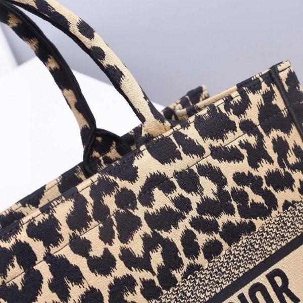 Dior M1286 Dior Book Tote Beige Multicolor Mizza Embroidery - luxibagsmall