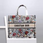 Dior M1286 Dior Book Tote Multicolor Flowers Embroidery - luxibagsmall