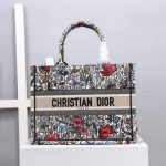 Dior M1286 Dior Book Tote Small Multicolor Flowers Embroidery - luxibagsmall